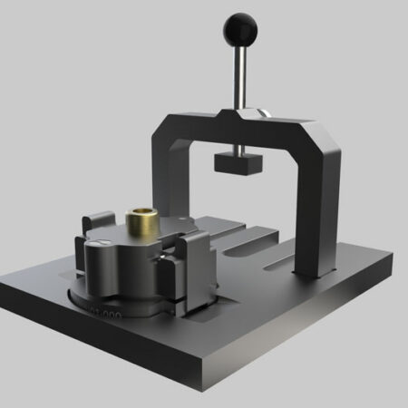 high precision sample holder mounting device